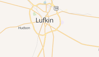 Lufkin, Texas map