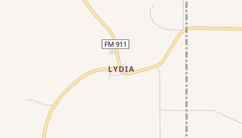 Lydia, Texas map