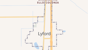 Lyford, Texas map