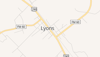 Lyons, Texas map