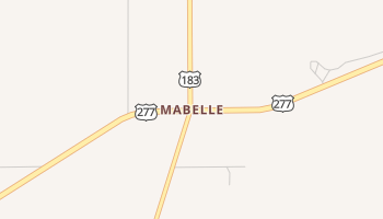 Mabelle, Texas map