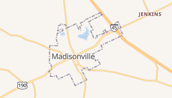 Madisonville, Texas map