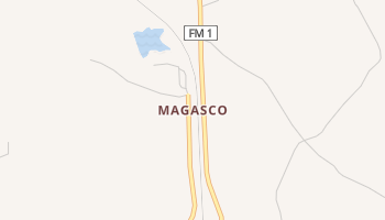 Magasco, Texas map