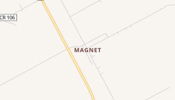 Magnet, Texas map