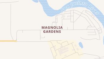 Magnolia Gardens, Texas map
