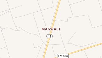 Magwalt, Texas map