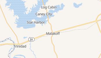 Malakoff, Texas map
