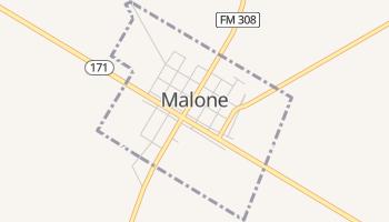Malone, Texas map