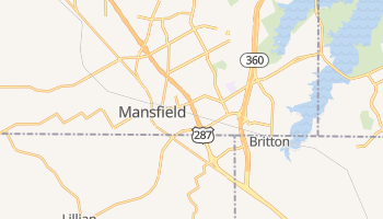 Mansfield, Texas map