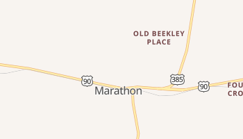 Marathon, Texas map