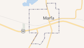 Marfa, Texas map