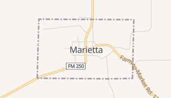 Marietta, Texas map