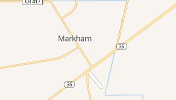 Markham, Texas map