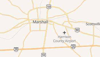 Marshall, Texas map