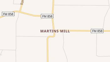 Martins Mill, Texas map