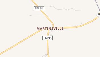 Martinsville, Texas map