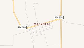 Maryneal, Texas map