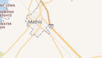 Mathis, Texas map