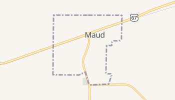 Maud, Texas map