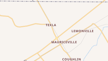 Mauriceville, Texas map