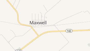 Maxwell, Texas map