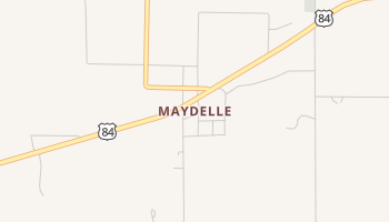 Maydelle, Texas map