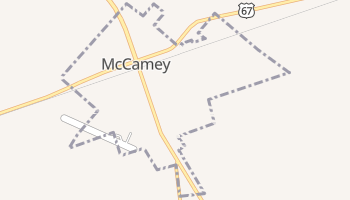 McCamey, Texas map