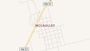 McCaulley, Texas map