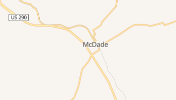 McDade, Texas map