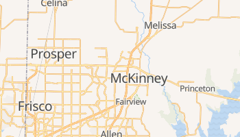McKinney, Texas map