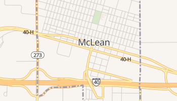 McLean, Texas map