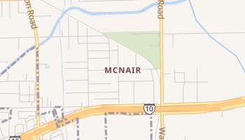 McNair, Texas map