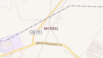 McNeil, Texas map