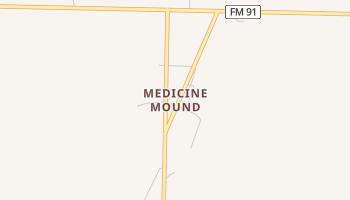 Medicine Mound, Texas map