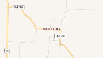 Mercury, Texas map
