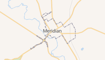 Meridian, Texas map
