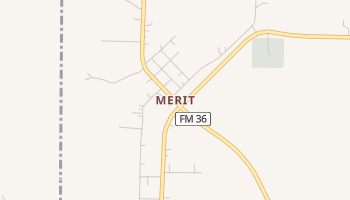 Merit, Texas map