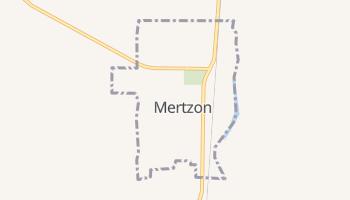Mertzon, Texas map