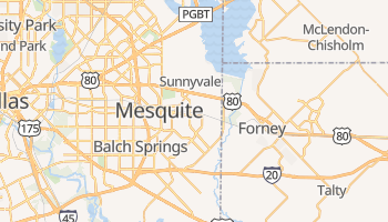 Mesquite, Texas map