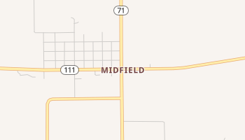 Midfield, Texas map