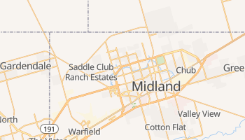 Midland, Texas map