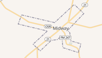 Midway, Texas map