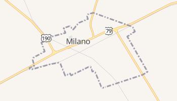 Milano, Texas map