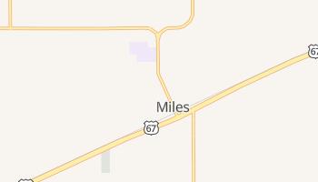 Miles, Texas map