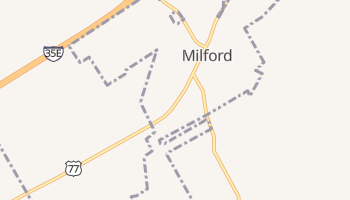Milford, Texas map