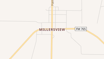 Millersview, Texas map