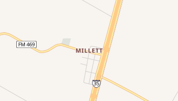 Millett, Texas map