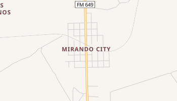 Mirando City, Texas map