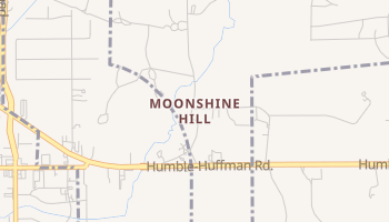 Moonshine Hill, Texas map
