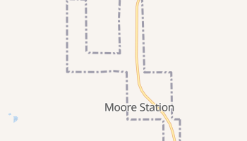 Moore Station, Texas map
